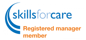 Cheriton Homecare Skillsforcare registered manager badge